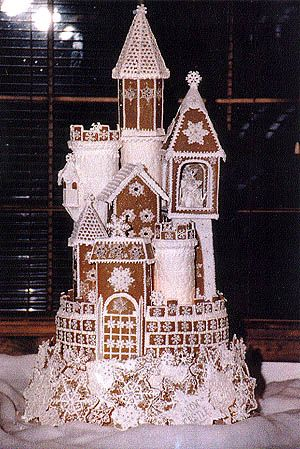 Cinderella gingerbread house. Now this is a gingerbread house!
