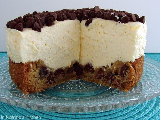 chocolate chip cheesecake at in katrina's kitchen