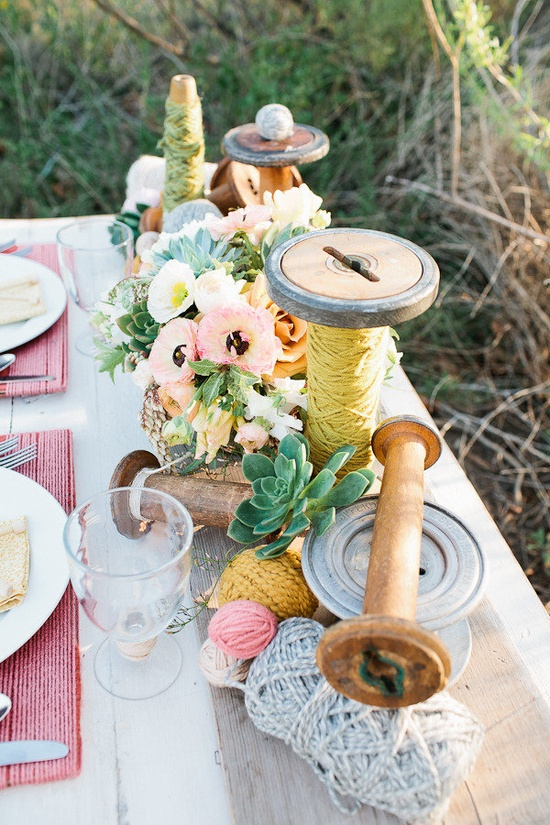 adorable table 'props' from this styled shoot on StyleMePretty.com... {click on the link for more pretty;} Photography by meganhartleyphoto..., Styling by whitmitt.com, Floral Design by artwithnaturedesi...