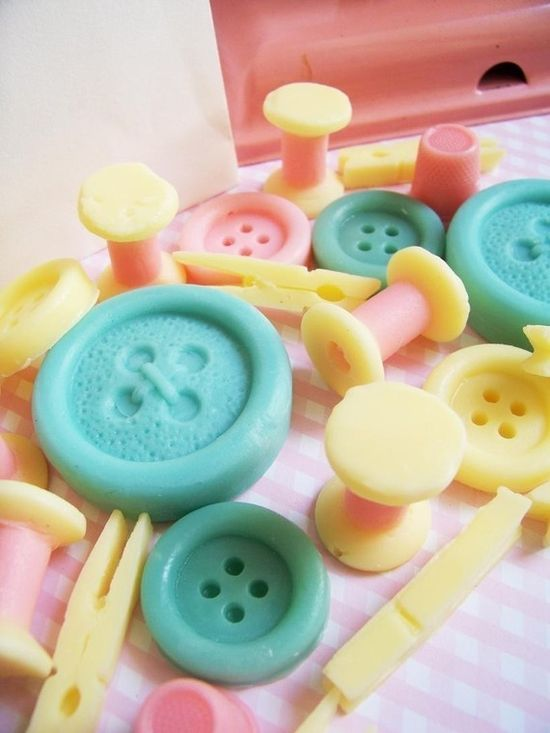 Button & Sewing Soap