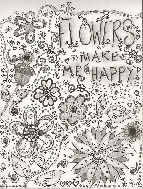 Doodles and Flowers