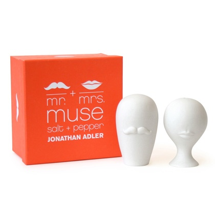 mr + mrs muse salt + pepper shakers