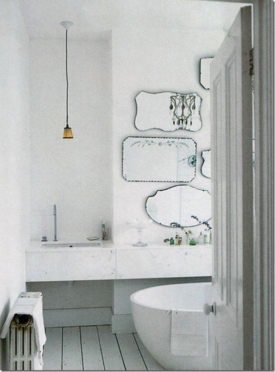 Bathroom with a DIY Mirror