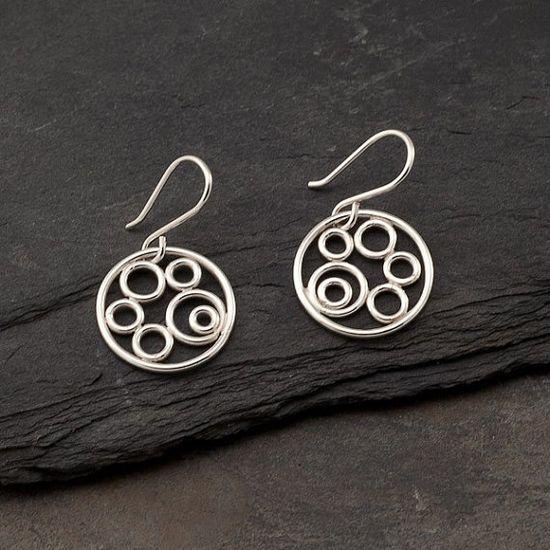 Sterling Silver Earrings Silver Circle Earrings Silver by Artulia, $38.00
