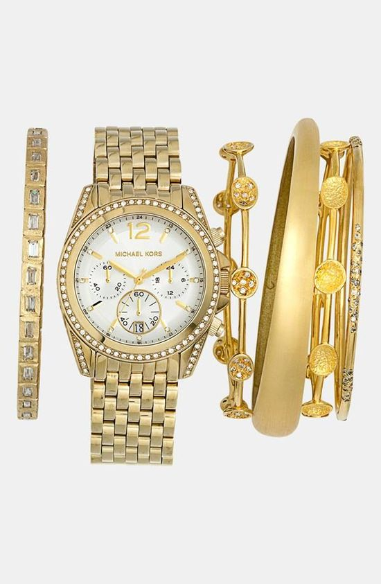 So shiny! Michael Kors Watch & Bracelets