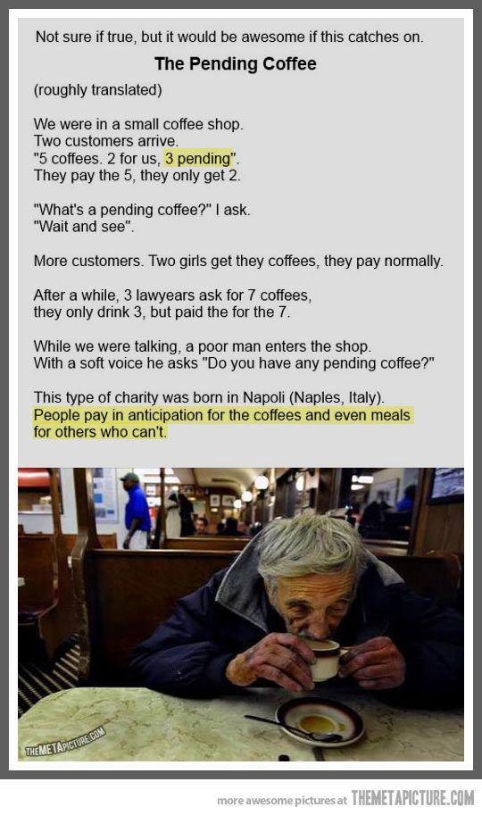 The Pending Coffee…