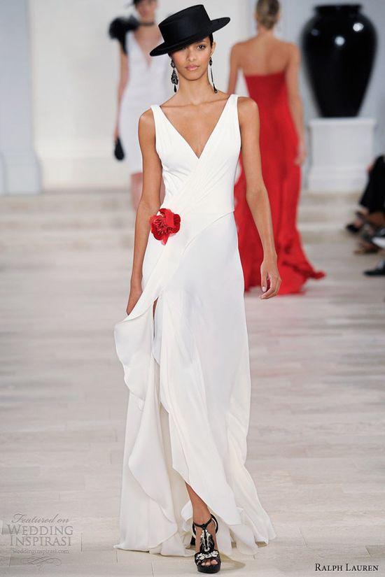 Awesome Wedding Photos: ralph lauren spring 2013 sleeveless white ...