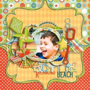 Traci Reed Beach Layout scrapbook layout