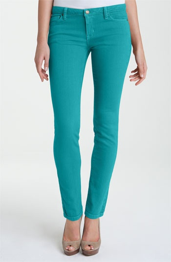 Michael Michael Kors Colored Denim Skinny Jeans Tile Blue