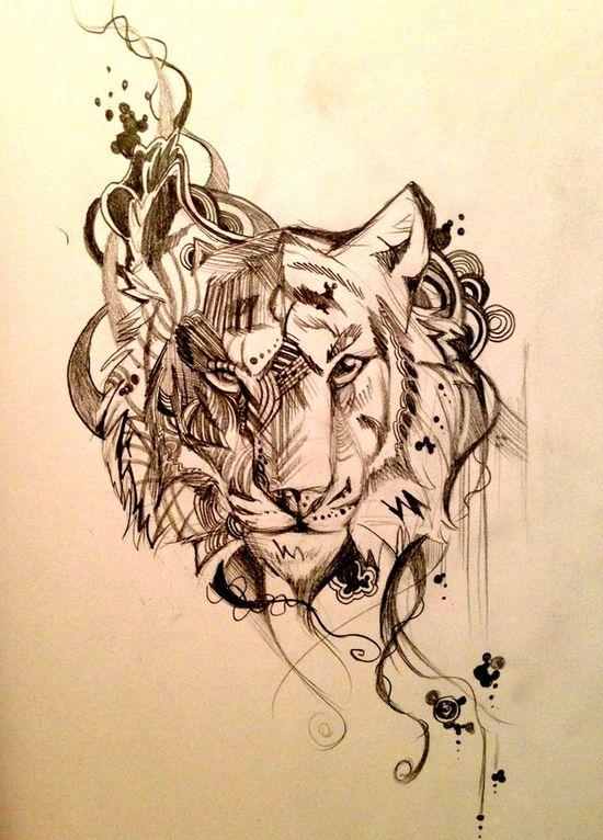 Tiger Design Sketch