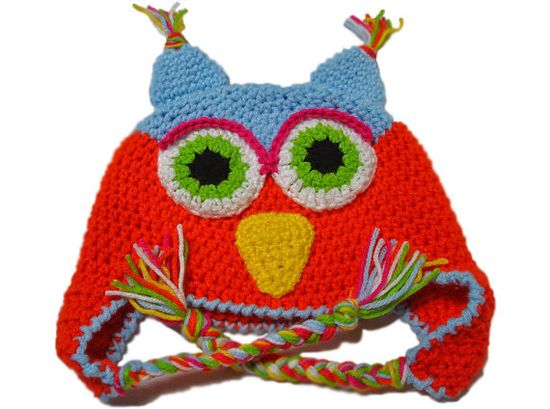 #Crochet Baby animal #hat kids hats baby owl hat by @2kutekreations  on Etsy, $20.00