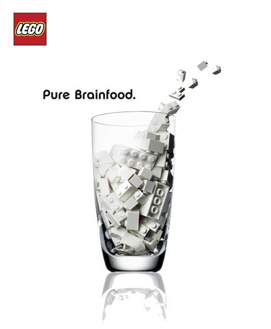 Creative Lego Ads #milk #ads #marketing