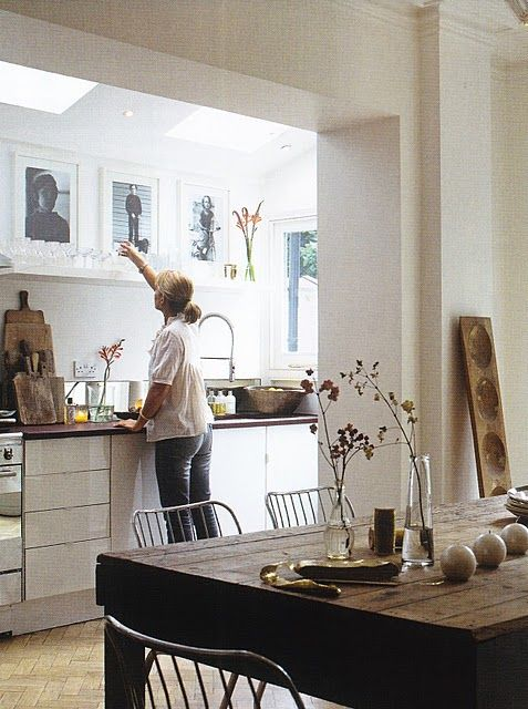 Kitchen - dining.  Love.  The home of Anna McDougall via French by Design.  Photos byChris Tubbs for Redcover
