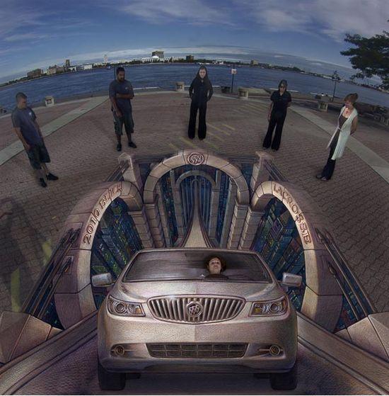 3D optical illusion street art by former NASA scientist Kurt Wenner