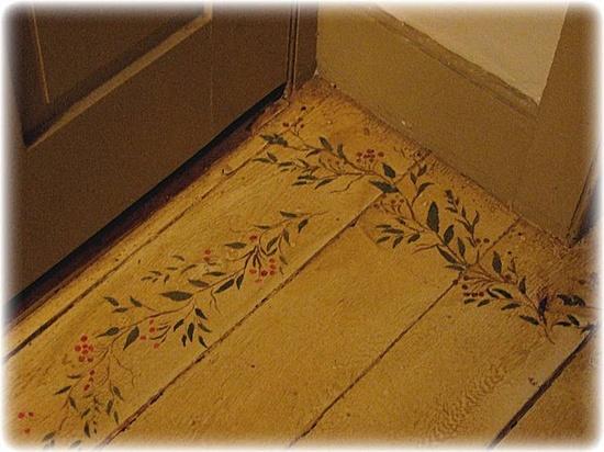 Painted Old Wood Floor