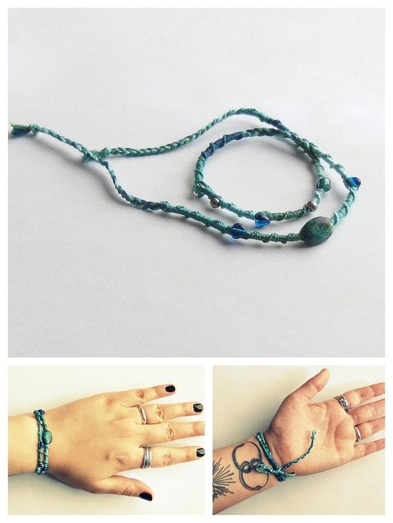 bohemian jewelry friendship bracelet mermaid by ExistentialElla, $20.00