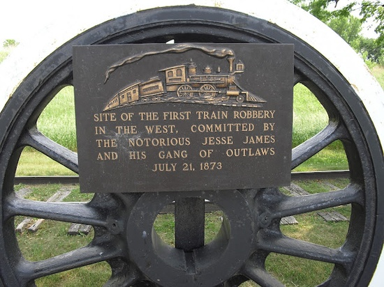 Site of the First Train Robbery - Adair, Iowa. Jesse James robbed the first train here.