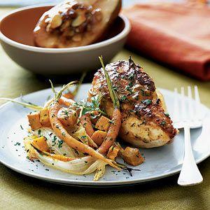 Roast Dijon Chicken and Vegetables