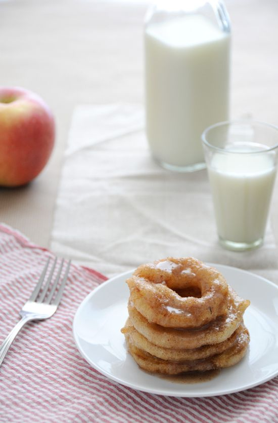Gluten free Apple Ring Fritters.