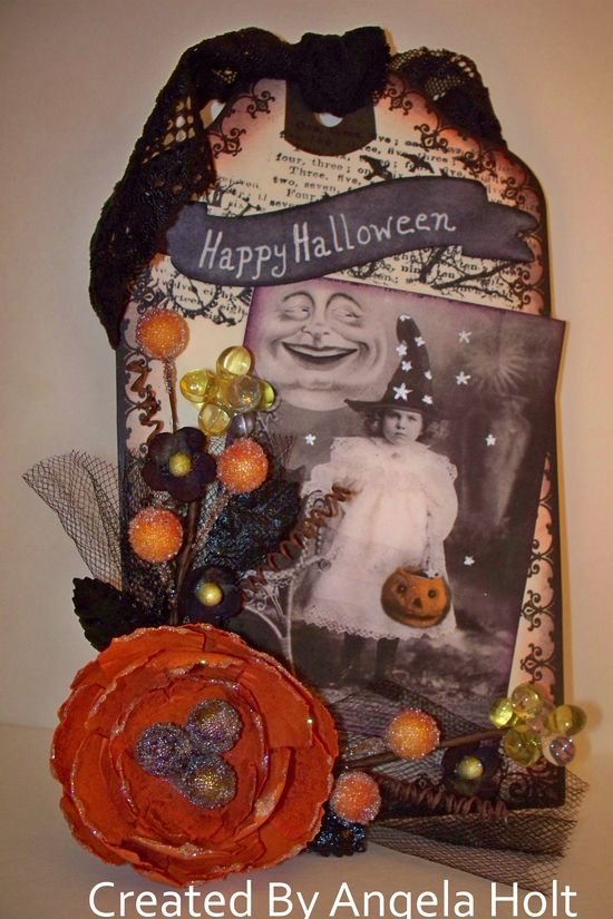 Halloween Vintage Tag