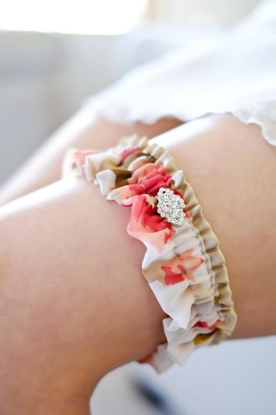 MONET silk wedding garter floral wedding garter by percyhandmade #etsy