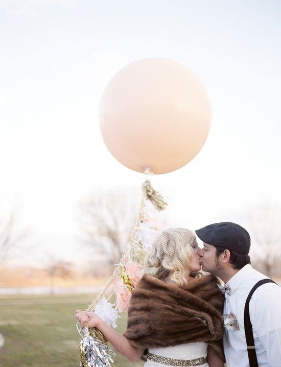 Rustic Missouri Wedding - love these big balloons