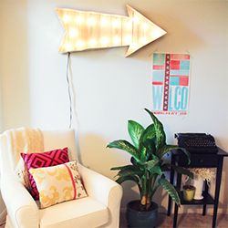 Add a vintage vibe to your pad with a DIY marquee arrow light!