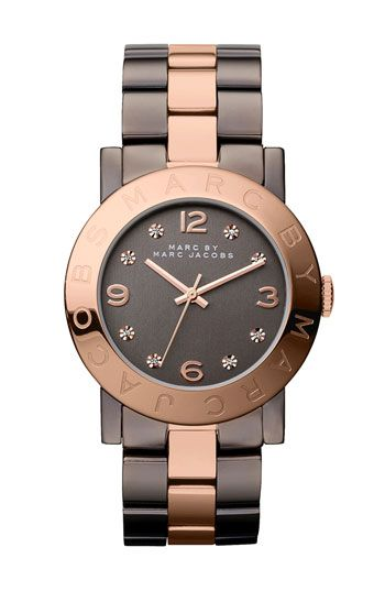 MARC BY MARC JACOBS 'Amy' Crystal Bracelet Watch
