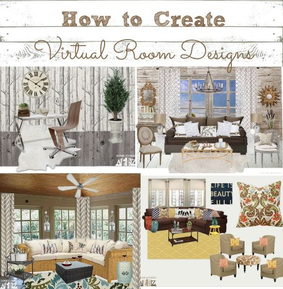 How to create virtual room designs.