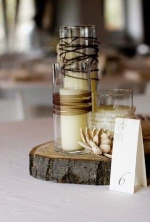 Country themed wedding, Wedding Centerpieces