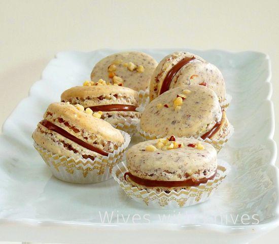 Hazelnut Chocolate Macarons