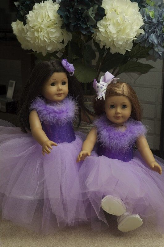 Purple American Girl Dress by BeastlyBuddies on Etsy, $18.00