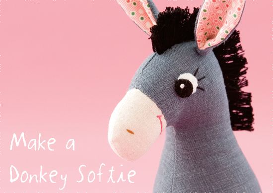Donkey Softie Free Pattern  (fabric or I could do this in felt)