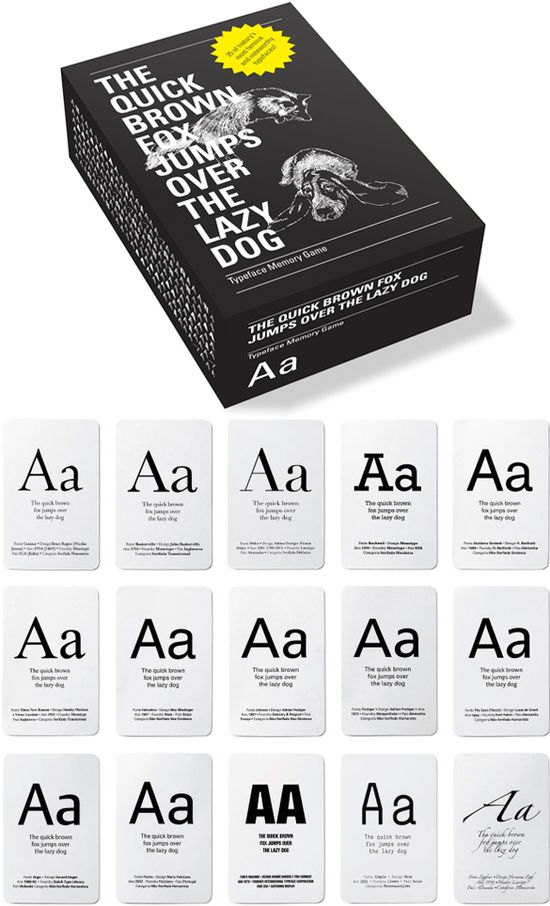 // typeface memory game