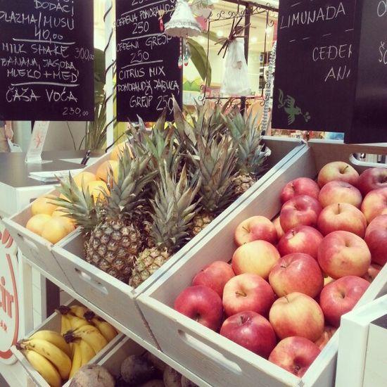Fresh fruits ...