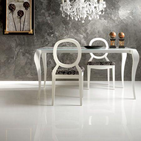 Porcelain white floor tiles