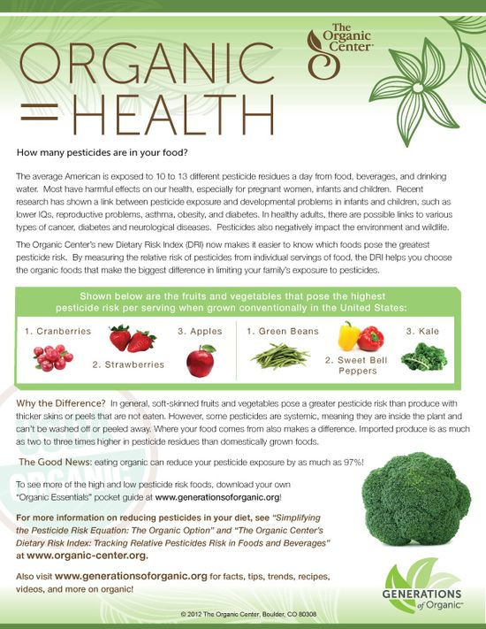 Organic = Health via @Nurture Nature Project