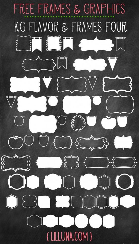 CUTE and FREE Frames & Graphics to use in your designs