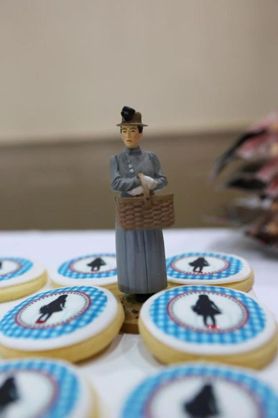 Wizard of Oz Party via Kara's Party Ideas KarasPartyIdeas.com  Dorothy biscuits by me..the iced biscuit :-)
