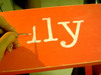 How to paint letters perfectly...duh! Why didn't I think of that??