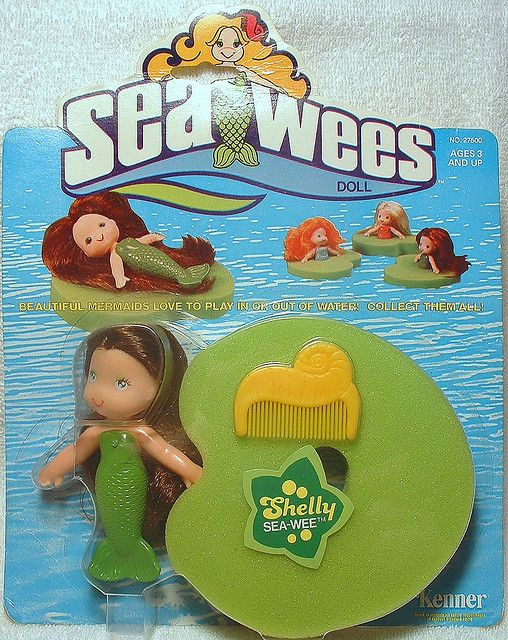 I remember playing with these in the bathtub.  They were soooo cute! #Sea_Wee #doll #retro #nostalgia #childhood #1980s #1990s