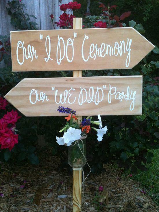 WEDDING SIGNS Wedding Decor Wooden Wedding by SweetNCCollective, $50.00