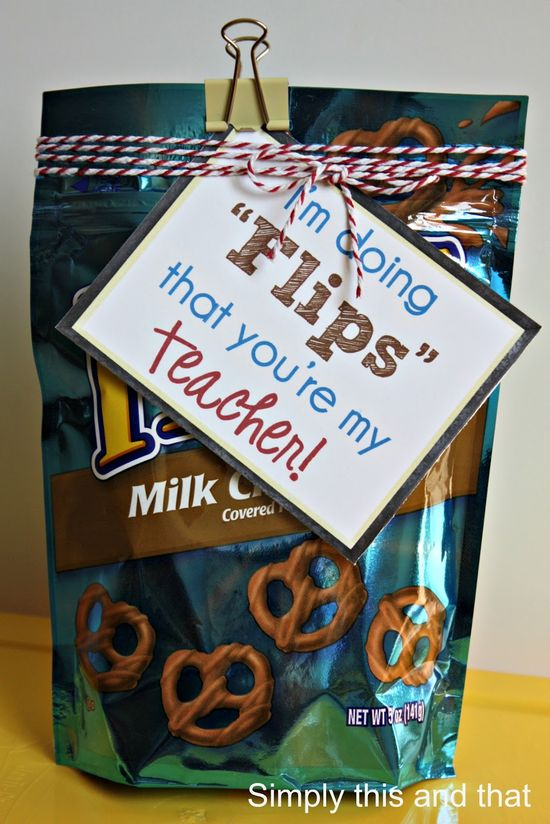 "Back to School Teacher Gift - ""I'm doing flips that you're my teacher!"""