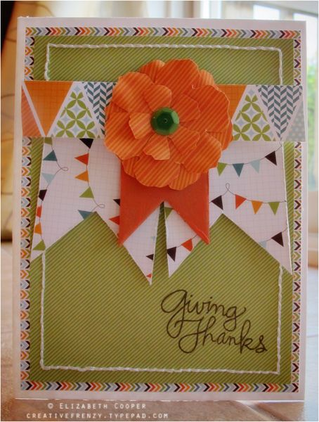 Handmade Card: Giving Thanks