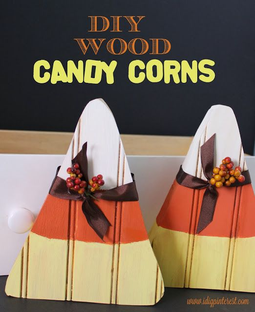 DIY wooden candy corn!