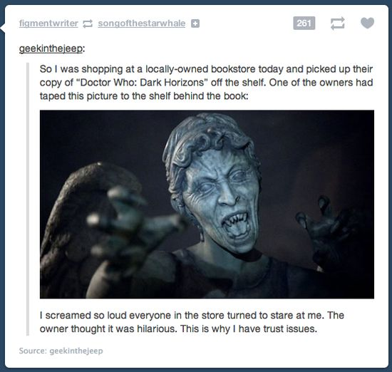 What whovians do to other whovians
