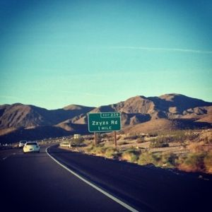 Zzyzx Road in Southern California