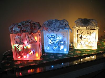 Holiday Glass Blocks