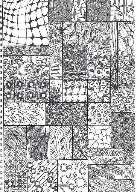 more zentangle patterns