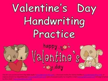 FREE Valentine's Day Handwriting Printables!!!